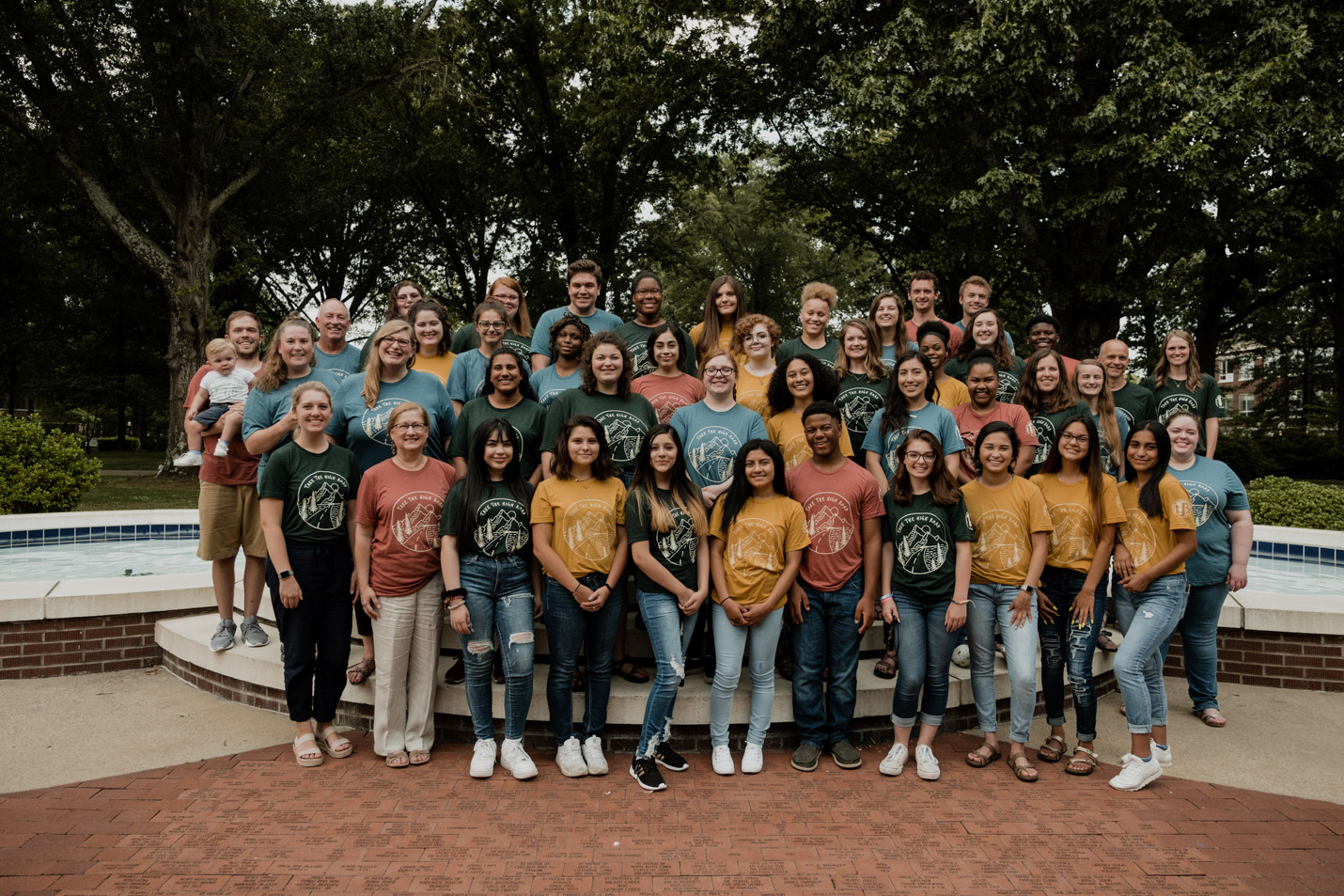 This is a group photo of all the 2019 Upward Bound students.