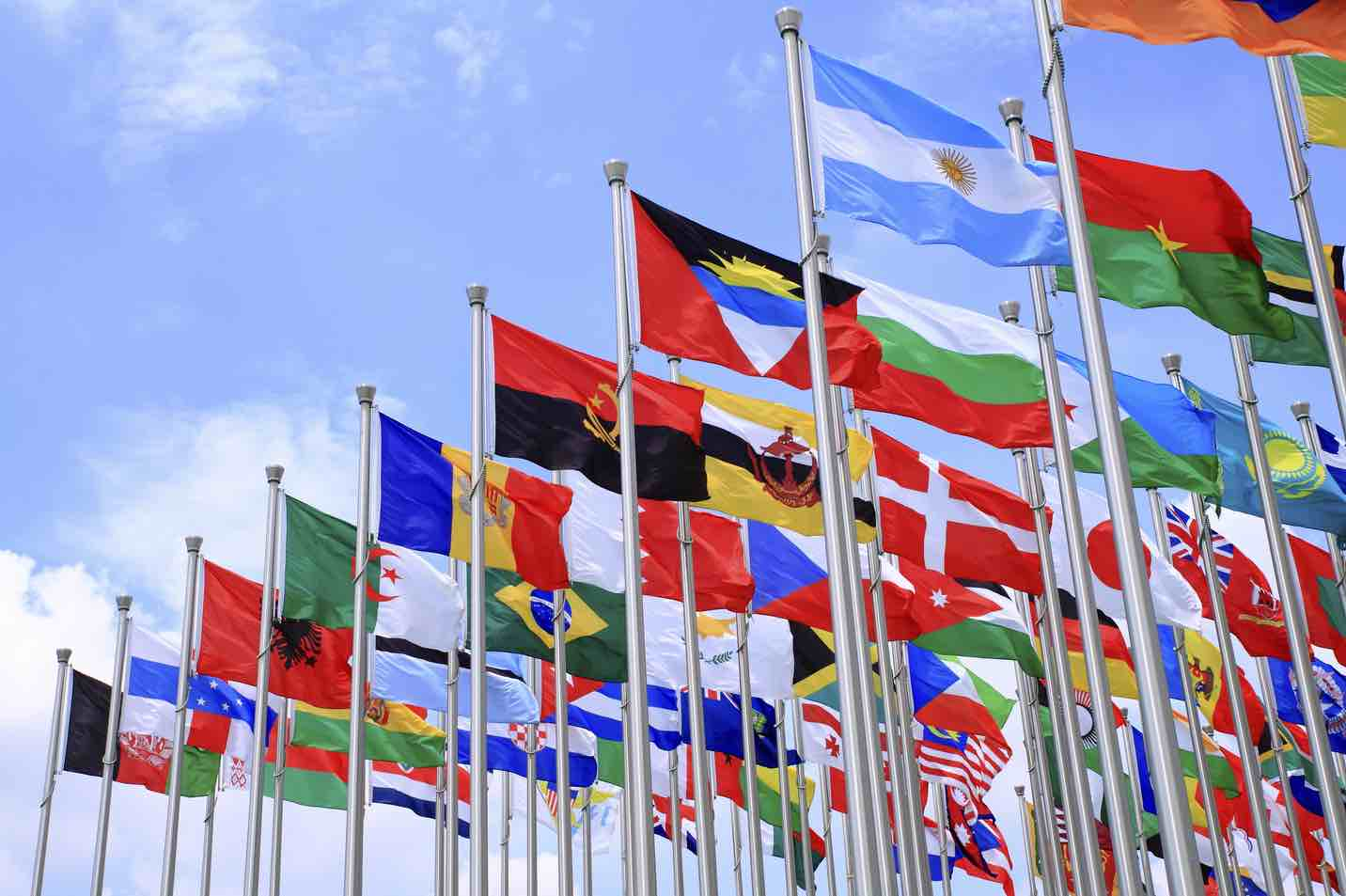 An image of world flags