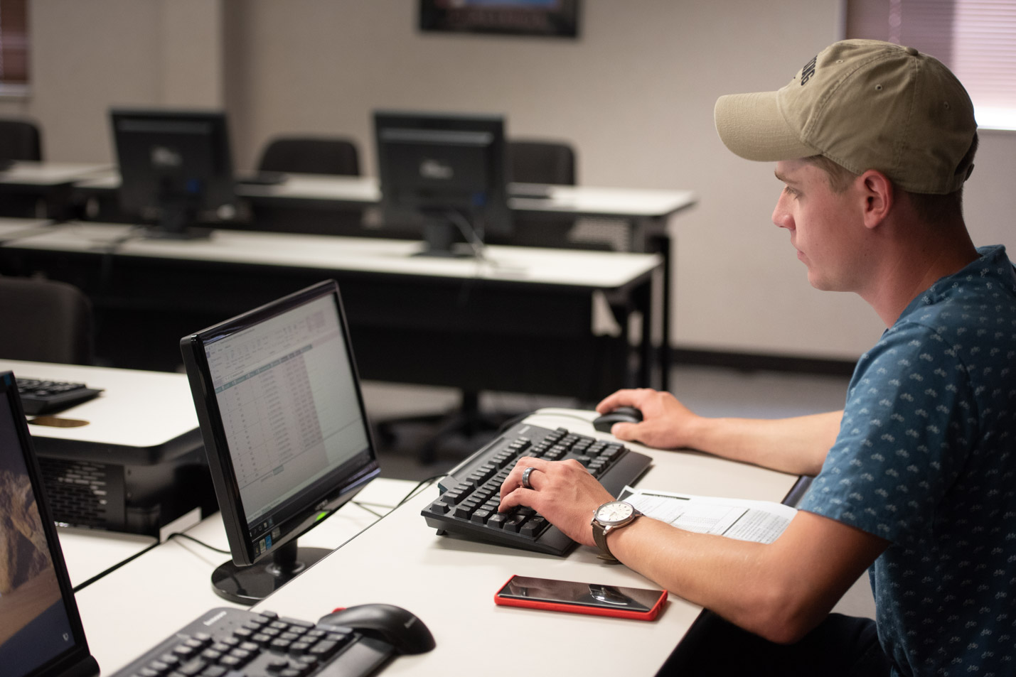 This is a photo of a student in the College of Business Administration.