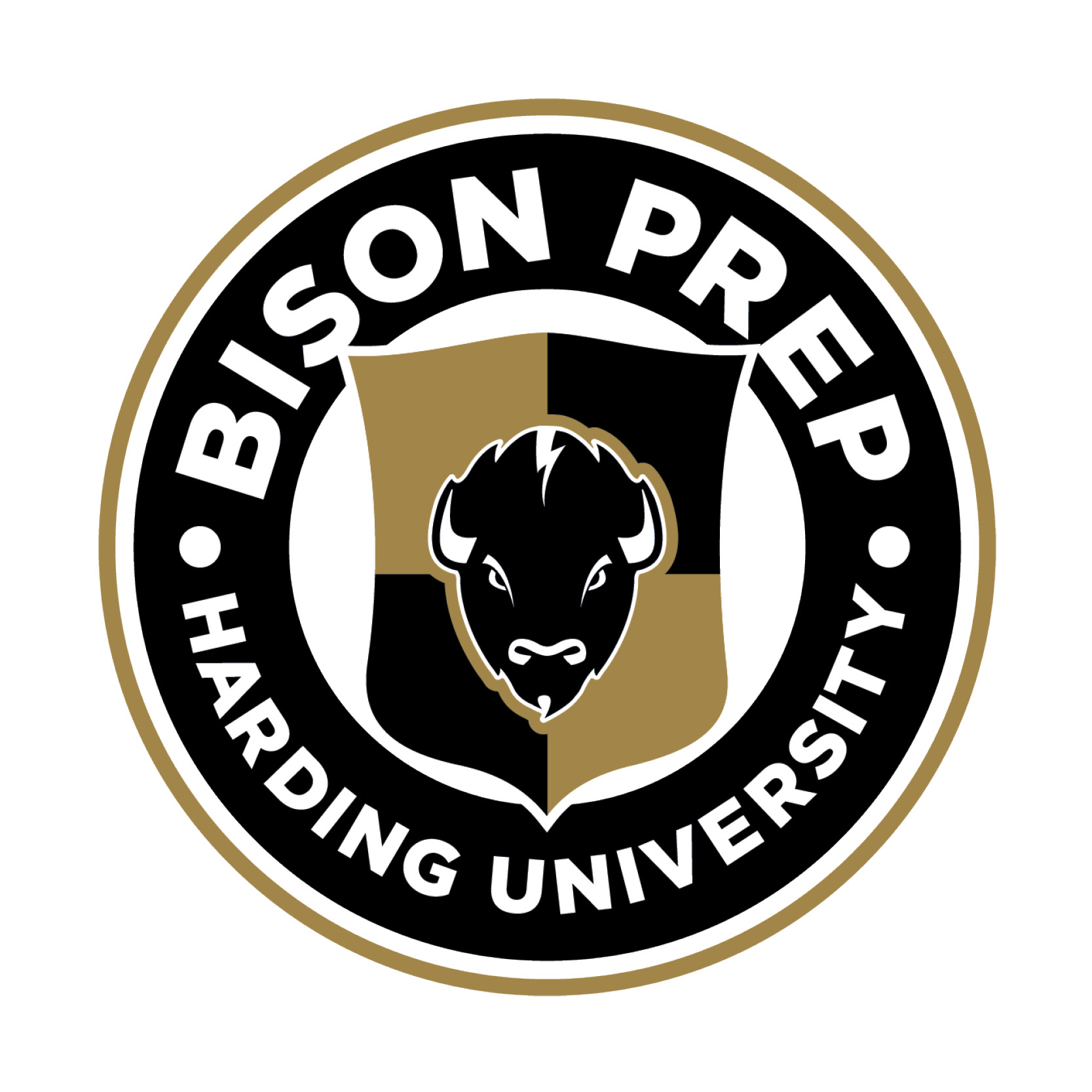 This is the logo for Bison Prep at Harding University.