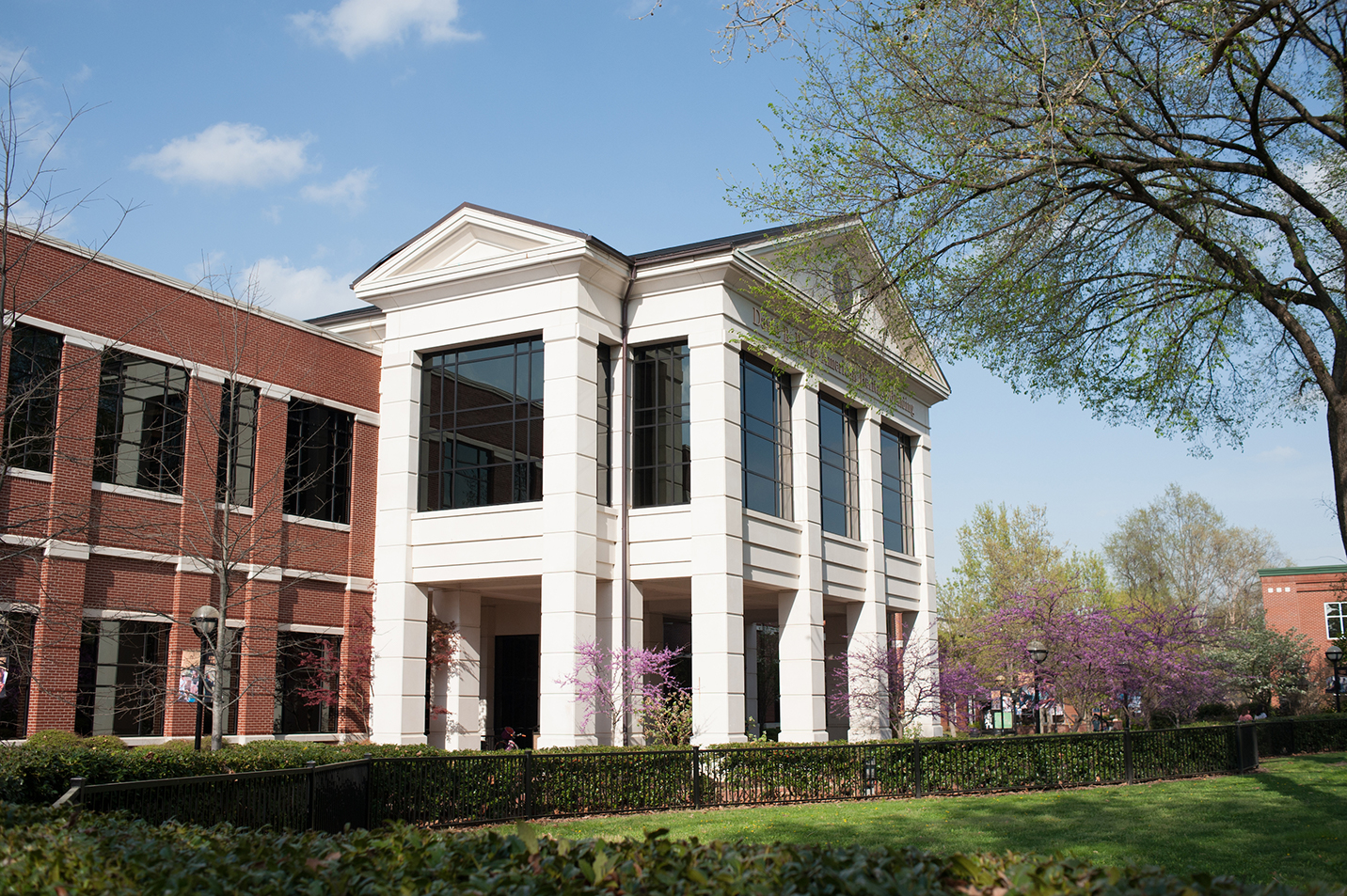 A photo of the Heritage building at harding University.