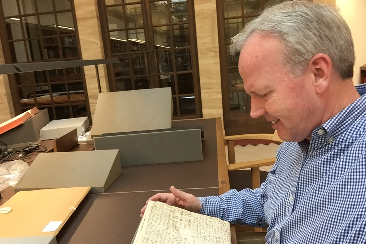 Dr. McLarty at Bodleian Library