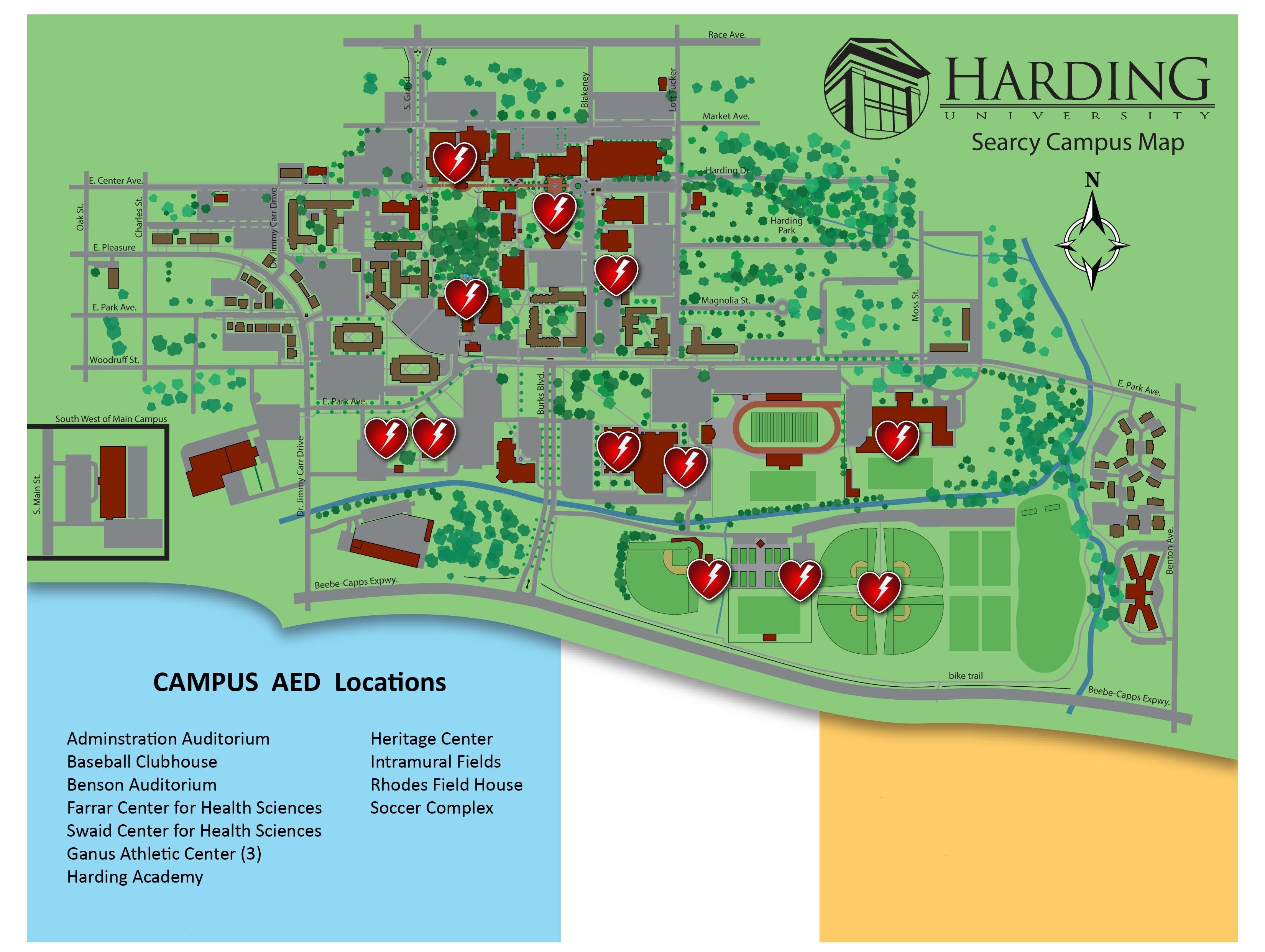 harding university campus map Harding Public Safety Campus Security harding university campus map